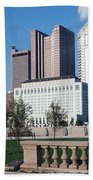 Downtown Skyline Of Columbus Bath Towel