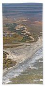 East Coast Aerial Near Jekyll Island Bath Towel