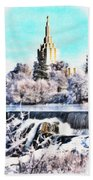 Idaho Falls Temple Bath Towel