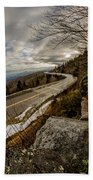 Linn Cove Viaduct During Winter Near Blowing Rock Nc Bath Towel