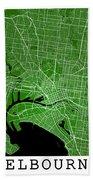 Melbourne Street Map - Melbourne Australia Road Map Art On Color Bath Towel