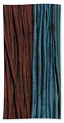 Multi-colored Striped Fabrics Bath Towel