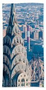 New York City Manhattan Midtown Aerial Panorama View With Skyscr Bath Towel