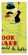 Poster Books, C1938 Bath Towel