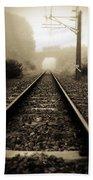Railway Tracks Bath Towel