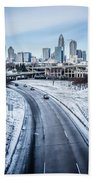 Rare Winter Scenery Around Charlotte North Carolina Bath Towel