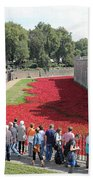 Remembrance Poppies At Tower Of London Bath Towel