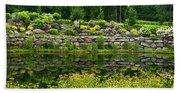 Rocks And Plants In Rock Garden Hand Towel