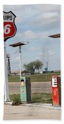 Route 66 - Adrian Texas Bath Towel