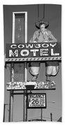 Route 66 - Cowboy Motel Bath Towel