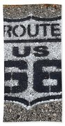 Route 66 Shield Bath Towel