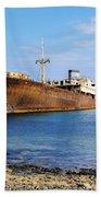 Shipwreck On Lanzarote Bath Towel