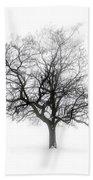 Winter Tree In Fog Bath Towel