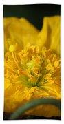 Yellow Iceland Poppy Bath Towel