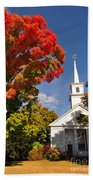 Lunenburg, Ma - Fall Foliage Bath Towel