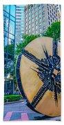Skyline And City Streets Of Charlotte North Carolina Usa Bath Towel