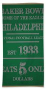 Philadelphia Eagles Bath Towel