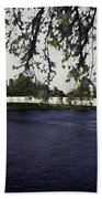 A Wonderful Suspension Bridge Over The River Ness In Inverness Bath Towel
