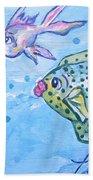 Art Fish Bath Towel