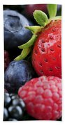Assorted Fresh Berries Bath Towel