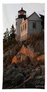 Bass Harbor Head Lighthouse Bath Towel