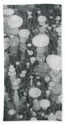 Bubbles In Ice On Abraham Lake Bath Towel