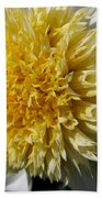 Dahlia Named Platinum Blonde Bath Towel