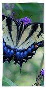 Eastern Tiger Swallowtail Butterfly On Butterfly Bush Bath Towel