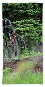 Extreme Biking In Alaska Bath Towel