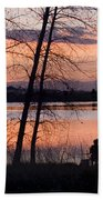Fly Fishing At Sunset Hand Towel
