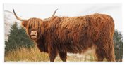 Highland Cow Hand Towel