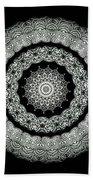 Kaleidoscope Ernst Haeckl Sea Life Series Black And White Set On Bath Towel