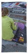 Lake Worth Street Painting Festival Bath Towel