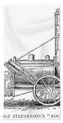 Locomotive Rocket, 1829 Bath Towel