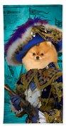 Pomeranian Art Canvas Print Bath Towel