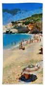 Porto Katsiki Beach In Lefkada Island Bath Towel
