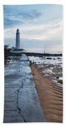 Saint Mary's Lighthouse At Whitley Bay Hand Towel