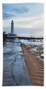Saint Mary's Lighthouse At Whitley Bay Bath Towel