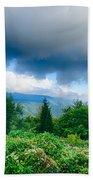 Sunrise Over Blue Ridge Mountains Scenic Overlook  Bath Towel