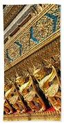 Temple In Grand Palace Bangkok Thailand Bath Towel