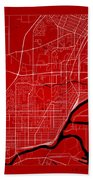 Thunder Bay Street Map - Thunder Bay Canada Road Map Art On Colo Bath Towel