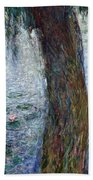 Waterlilies Morning With Weeping Willows Hand Towel
