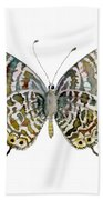 51 Lang's Short-tailed Blue Butterfly Bath Towel