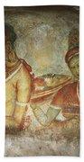 5th Century Cave Frescoes Bath Towel