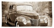 1940 Ford Deluxe Coupe Hand Towel