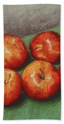 6 Apples Washed And Waiting Bath Towel