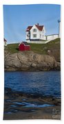Cape Neddick Lighthouse Bath Towel