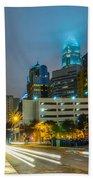 Charlotte City Skyline  Bath Towel