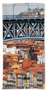 City Of Porto In Portugal Hand Towel