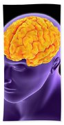 Conceptual Image Of Human Brain Hand Towel